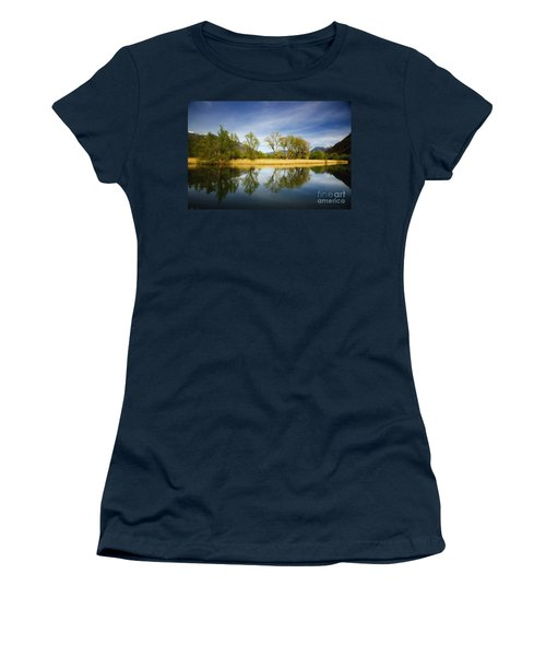Trees Reflections On The Lake Women's T-Shirt