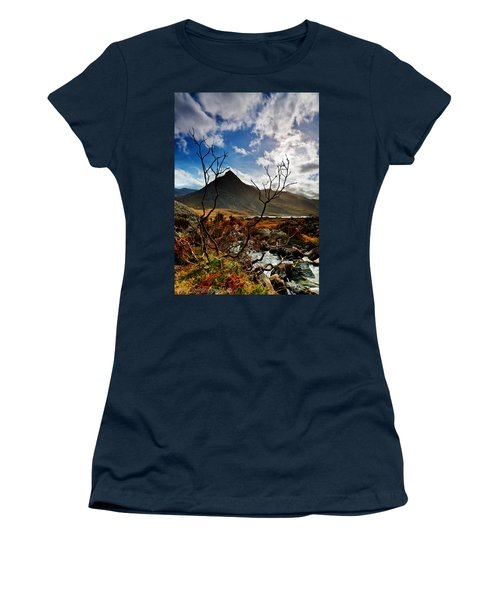 Women's T-Shirt (Junior Cut) featuring the photograph Tryfan And Tree by Beverly Cash