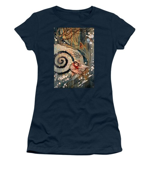 Women's T-Shirt (Junior Cut) featuring the painting Winter Becoming by Sandro Ramani