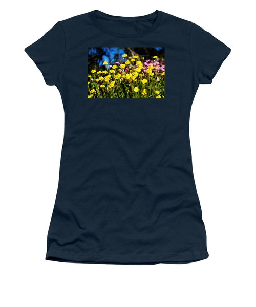 Women's T-Shirt (Junior Cut) featuring the photograph Yellow Flowers by Yew Kwang