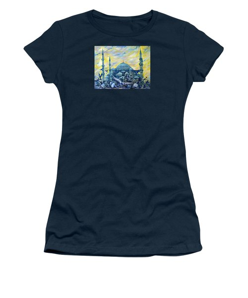 Turkey. Blue Mosque Women's T-Shirt (Athletic Fit)