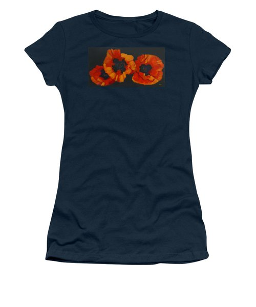3 Poppies Women's T-Shirt (Athletic Fit)