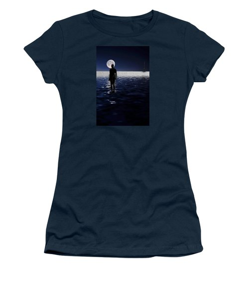 Antony Gormley Statues Crosby Women's T-Shirt (Junior Cut) by David French