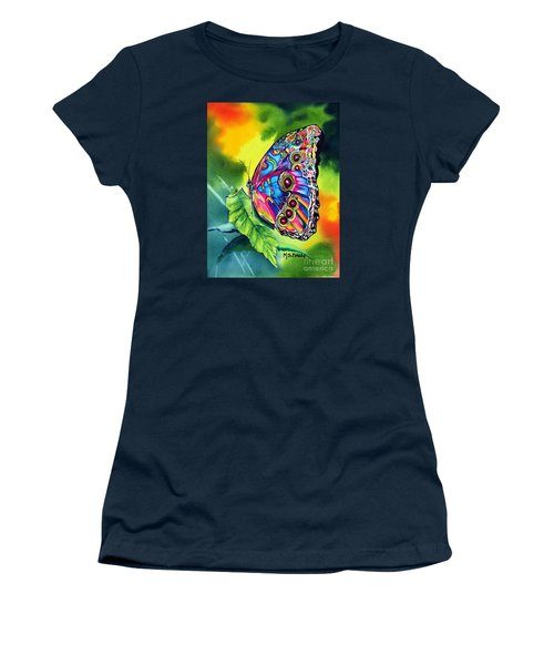 Beatrice Butterfly Women's T-Shirt (Junior Cut) by Maria Barry