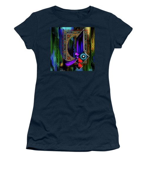 Women's T-Shirt (Junior Cut) featuring the painting Calligraphy 100 1 by Mawra Tahreem