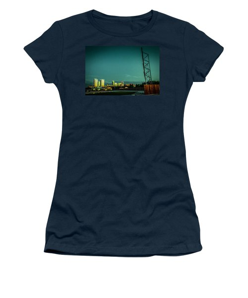 Fortworth Texas Cityscape Women's T-Shirt (Athletic Fit)
