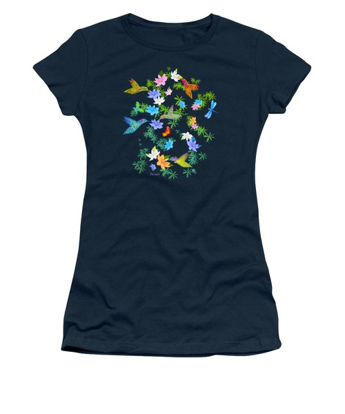 Hummingbird Spring Women's T-Shirt (Junior Cut) by Teresa Ascone
