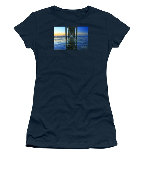 La Jolla Blue  Women's T-Shirt (Athletic Fit)