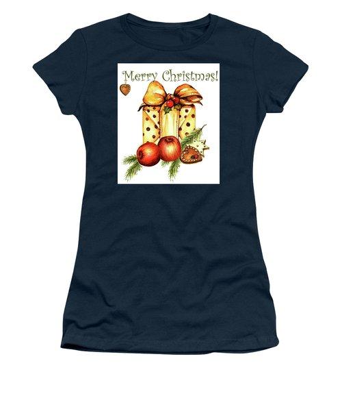 Merry Christmas Women's T-Shirt (Junior Cut) by Heidi Kriel
