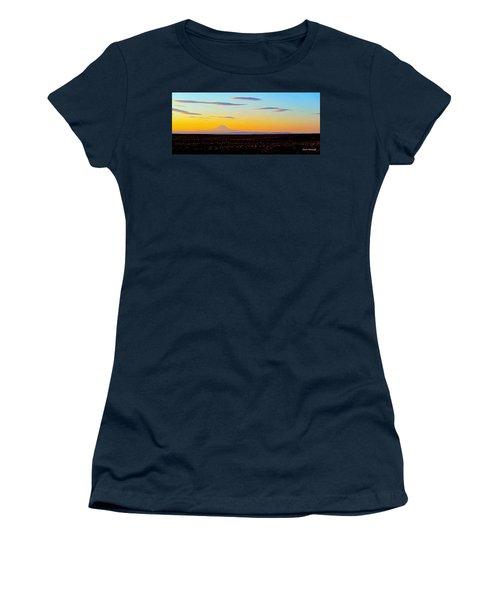 Mt. Adams Sunset Women's T-Shirt (Athletic Fit)