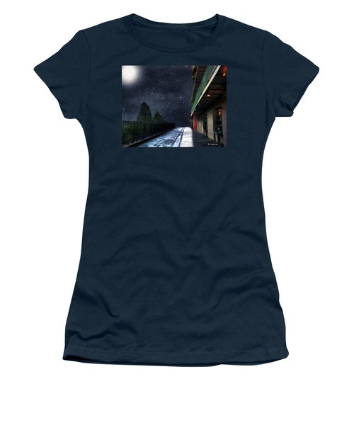 Nightwalk Women's T-Shirt (Junior Cut) by RC deWinter