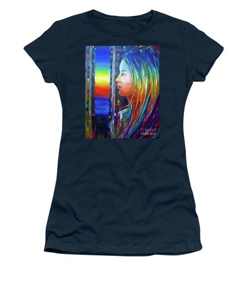 Rainbow Girl 241008 Women's T-Shirt (Athletic Fit)