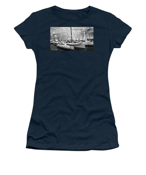 Women's T-Shirt (Athletic Fit) featuring the photograph Route Du Rhum Ready by Elf Evans