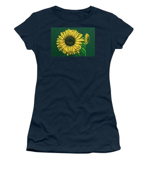 Sunflower Women's T-Shirt (Junior Cut) by Ron Haist