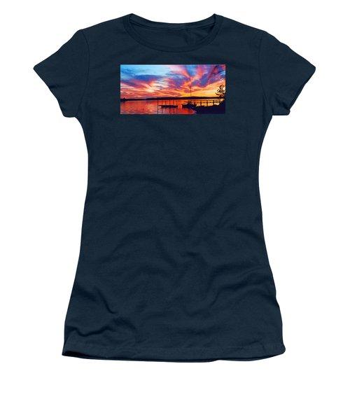 Sunset Over Lake Murray Women's T-Shirt