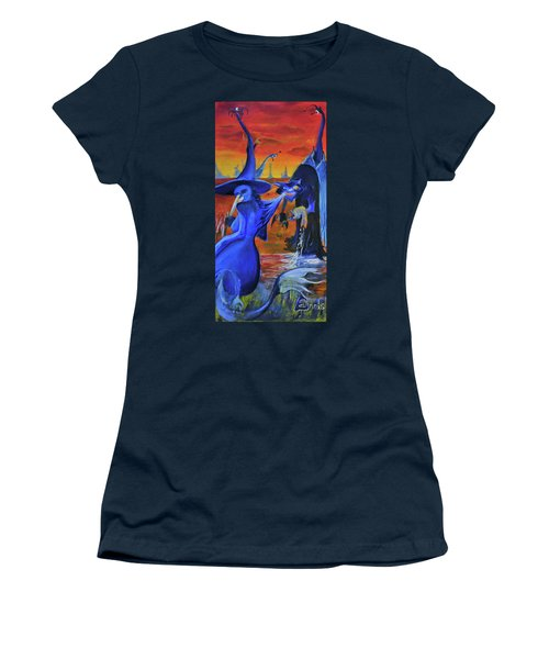 The Cat And The Witch Women's T-Shirt
