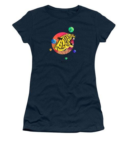 Tiger  Women's T-Shirt (Junior Cut) by Mark Ashkenazi