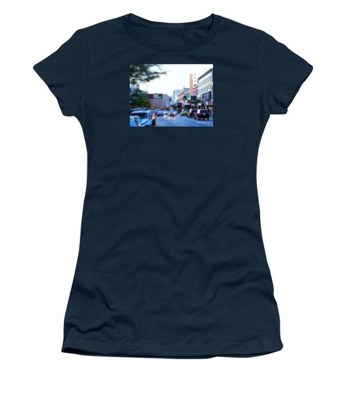125th Street Harlem Nyc Women's T-Shirt (Junior Cut) by Ed Weidman