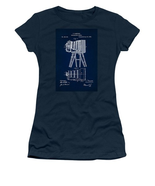 1885 Camera Us Patent Invention Drawing - Dark Blue Women's T-Shirt