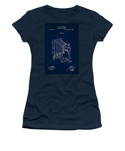 1888 Camera Us Patent Invention Drawing - Dark Blue Women's T-Shirt