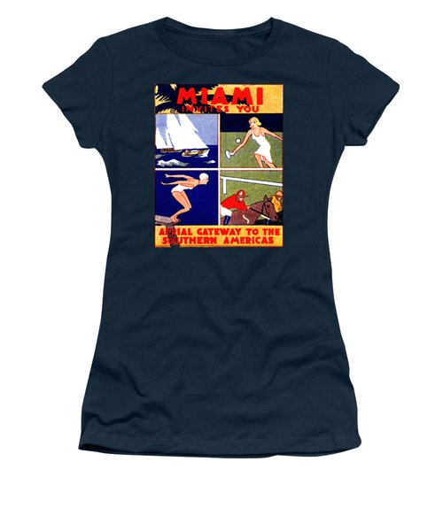 1935 Miami Travel Poster Women's T-Shirt