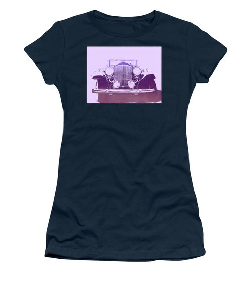 1932 Packard Pop Art Violet Gradient Women's T-Shirt