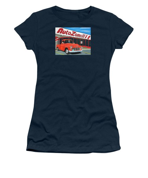 1955 Chevy - Autozone Women's T-Shirt (Athletic Fit)