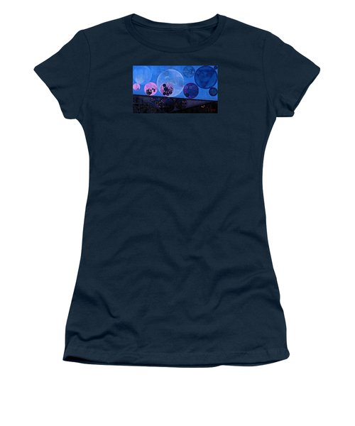 Women's T-Shirt (Junior Cut) featuring the digital art Abstract Painting - Saint Patrick Blue by Vitaliy Gladkiy