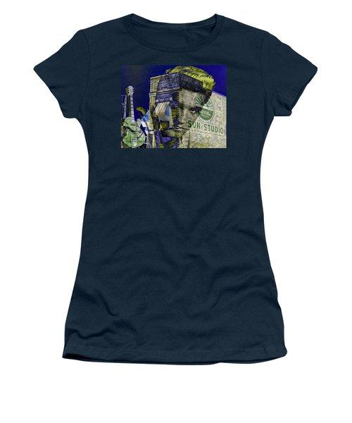 Elvis Presley Sun Studio Collection Women's T-Shirt (Junior Cut) by Marvin Blaine