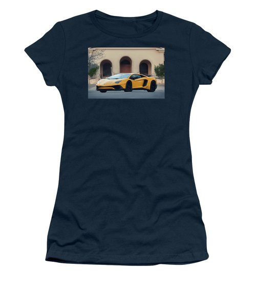 Women's T-Shirt featuring the photograph #lamborghini #aventadorsv #superveloce #print by ItzKirb Photography
