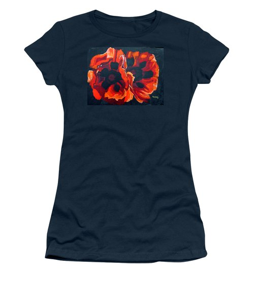 2 Poppies Women's T-Shirt (Athletic Fit)