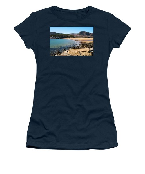 Sand Beach Acadia National Park Women's T-Shirt (Athletic Fit)