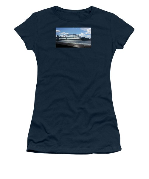 Sydney Harbor Bridge Women's T-Shirt (Junior Cut) by Bev Conover