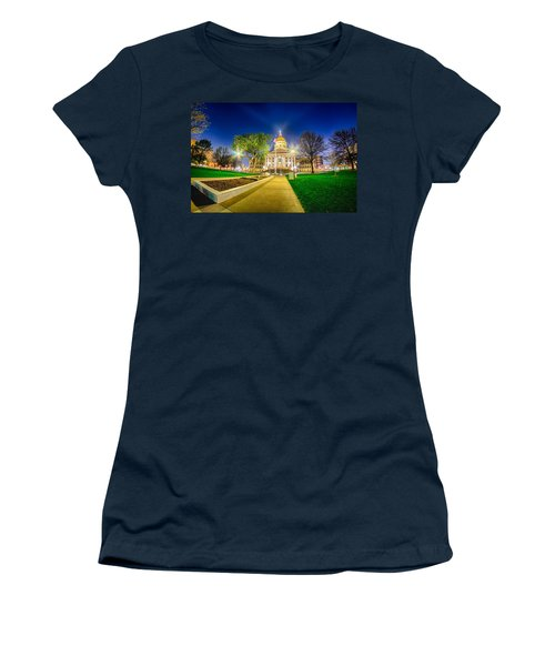 Topeka Kansas Downtown At Night Women's T-Shirt