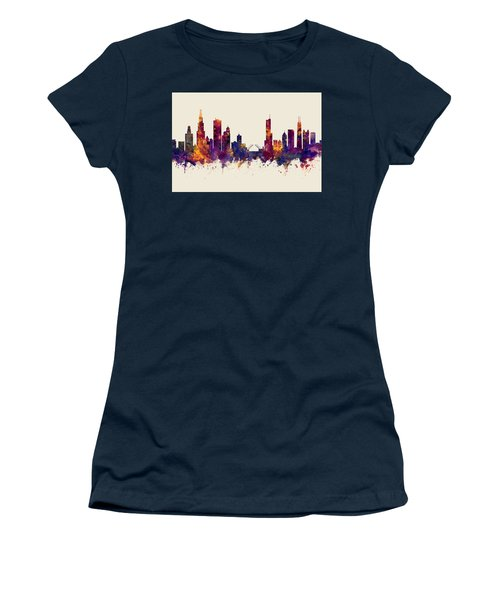 Chicago Illinois Skyline Women's T-Shirt (Athletic Fit)