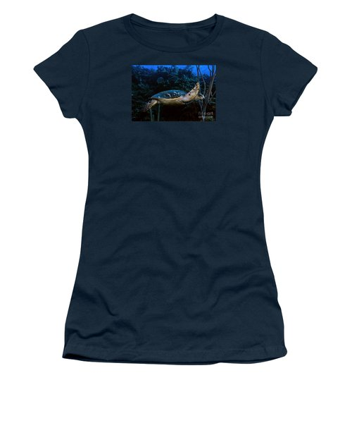 Hawksbill Turtle Women's T-Shirt (Junior Cut) by JT Lewis