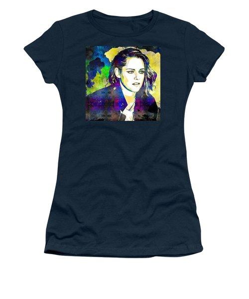 Kristen Stewart Women's T-Shirt (Junior Cut) by Svelby Art