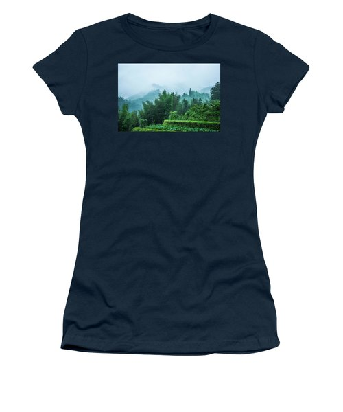 Mountains Scenery In The Mist Women's T-Shirt