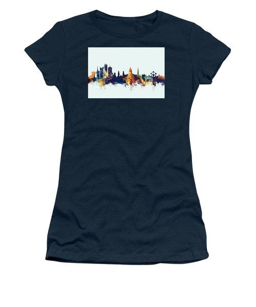 Women's T-Shirt (Junior Cut) featuring the digital art Brussels Belgium Skyline by Michael Tompsett