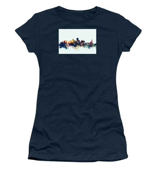 New Orleans Louisiana Skyline Women's T-Shirt (Junior Cut) by Michael Tompsett