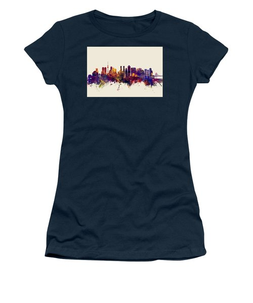 Tokyo Japan Skyline Women's T-Shirt (Athletic Fit)
