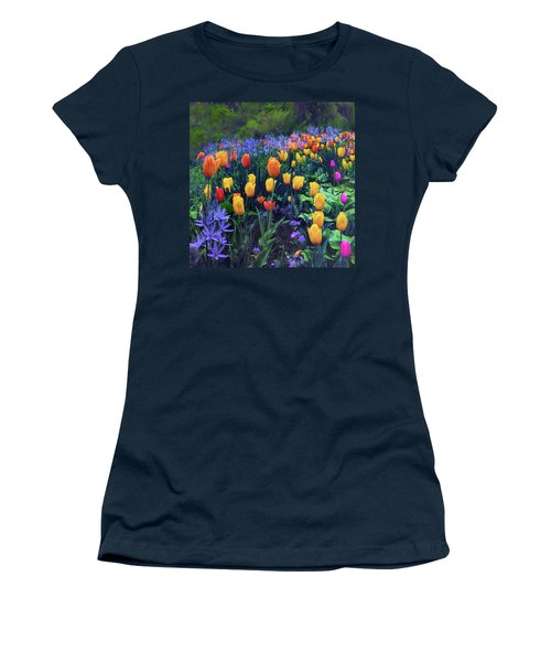 Procession Of Tulips Women's T-Shirt