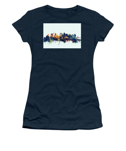 Tokyo Japan Skyline Women's T-Shirt (Athletic Fit)