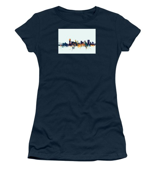 Memphis Tennessee Skyline Women's T-Shirt (Junior Cut) by Michael Tompsett