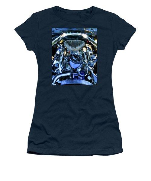 Women's T-Shirt (Junior Cut) featuring the photograph 67 Mustang Horsepower by Trey Foerster