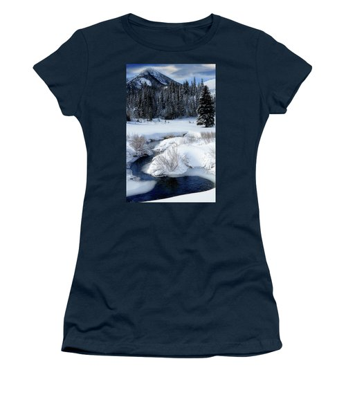 Wasatch Mountains In Winter Women's T-Shirt (Athletic Fit)