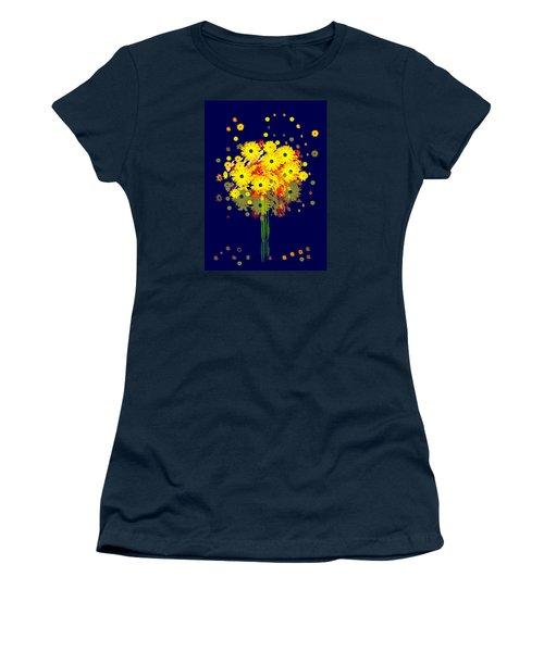 952 - Summer Flowers  Yellow ... Women's T-Shirt (Junior Cut) by Irmgard Schoendorf Welch