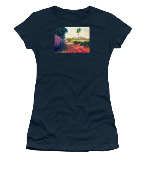 A Countryside Road Women's T-Shirt (Athletic Fit)