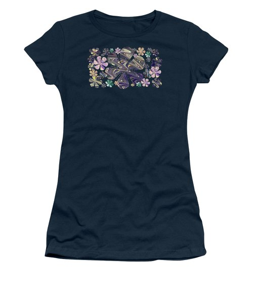 A Field Of Whimsical Flowers Women's T-Shirt (Athletic Fit)