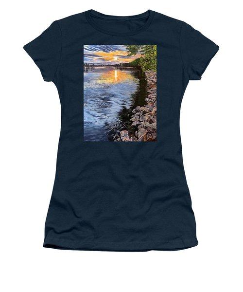 A Fraser River Sunset Women's T-Shirt